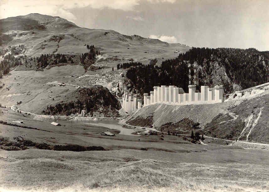 Construction barrage Roselend
