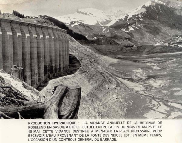 Vidange barrage 1972