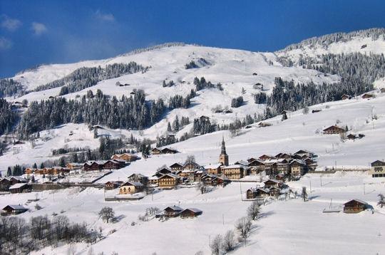 Hauteluce : le village en hiver