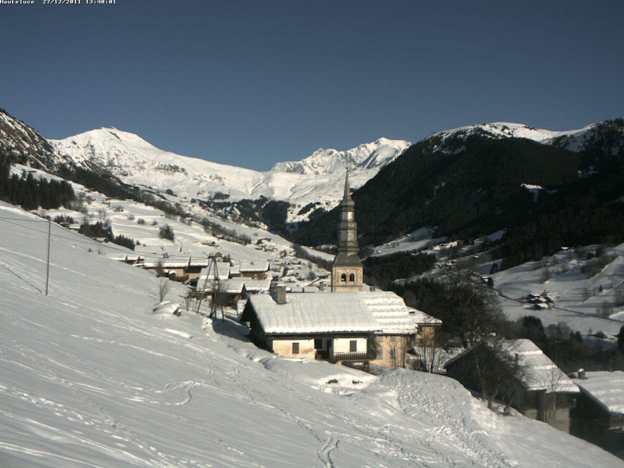 Hauteluce: le village en hiver