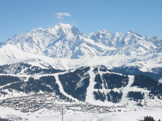 Les Saisies, le Mont Blanc