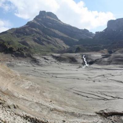 Vidange barrage de Roselend en 2011