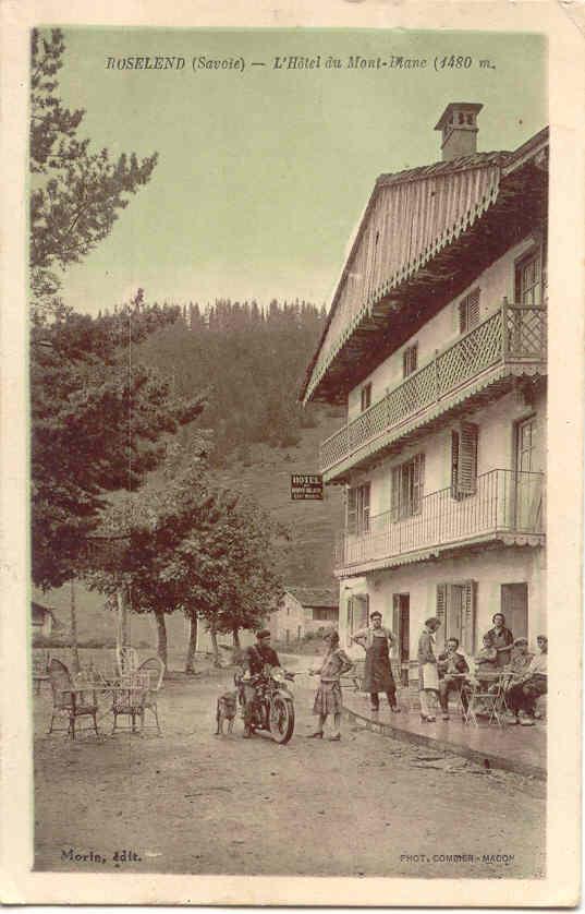 Roselend hotel Mont Joly